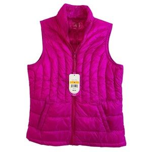 Be Inspired Pink Packable Down Puffer Vest Jacket